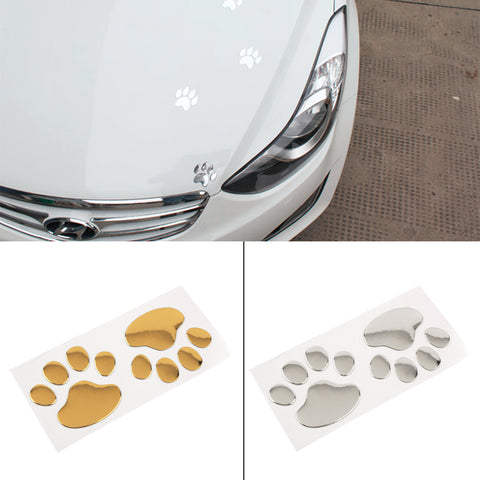 Cool 3D Paw Design Sticker, , DogGiftShop, DogGiftShop