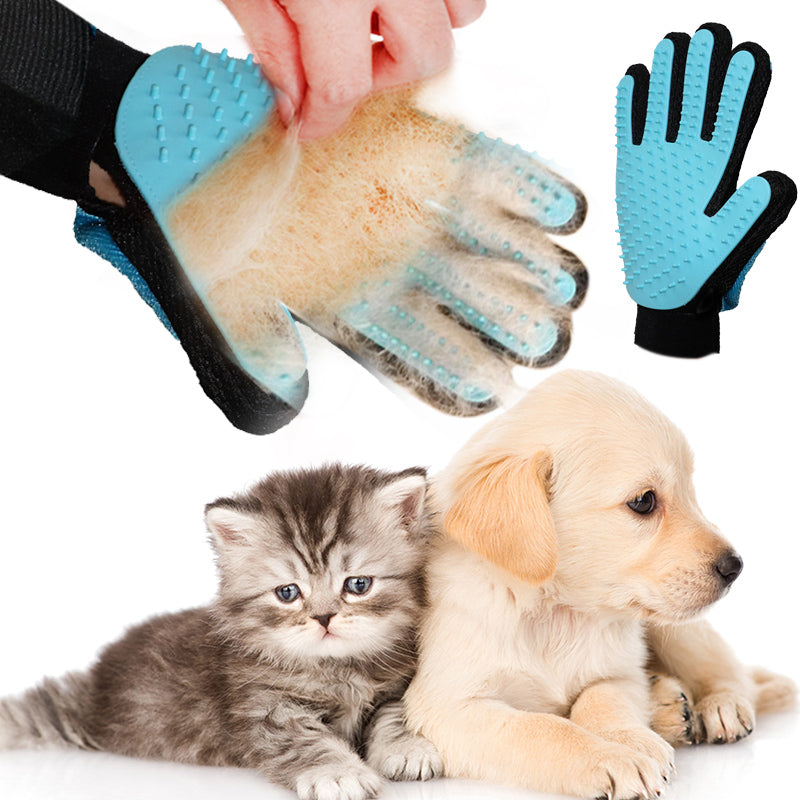 Pet Glove Combing For Dogs Glove for Animal Hair Brush For Dog Cat Grooming Deshedding True Finger Hair Cleaning Domestic 40F1