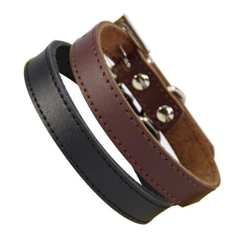 Genuine Leather HIgh Quality Collar For Small Pets, , DogGiftShop, DogGiftShop