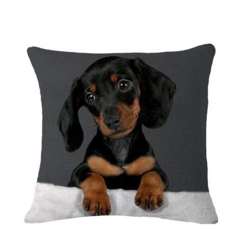 8 Designs Vintage Fashion Cushion Cover Decorative Pillow Cases Capa Almofade Black Dog Pattern for Sofa Home Decor SMC956T