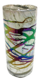 Shooter/Tequila Glasses – White with Metallic Swirls