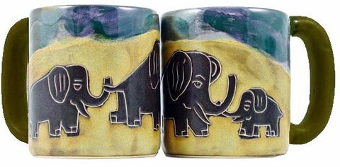 16 oz. Mara Mug – Elephants