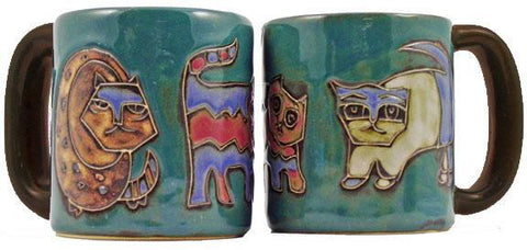 16 oz. Mara Mug – Cats Green