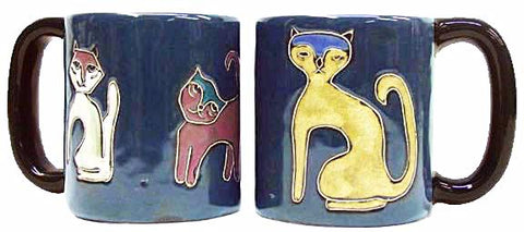 16 oz. Mara Mug – Cats Blue