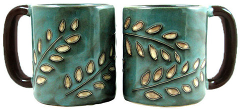 16 oz. Mara Mug – Sage Leaves