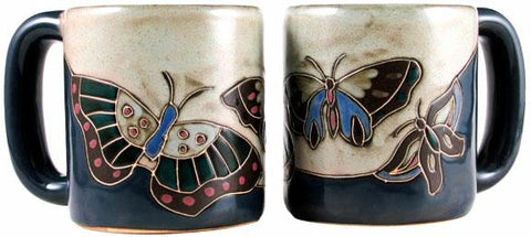 16 oz. Mara Mug – Butterflies Blue