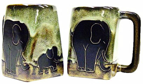 12 oz. Mara Mug – Elephants