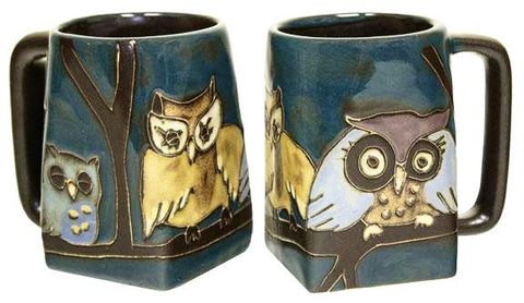 12 oz. Mara Mug – Owls on a Branch