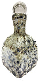 Glass Decanter – Metallic Cream & Gold 3D Spots