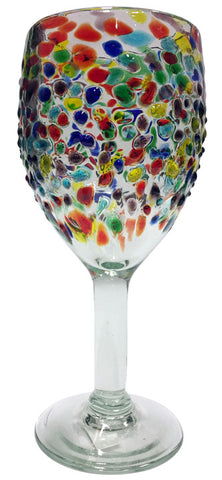 Wine Glass – Multi-Colour 3D Spots
