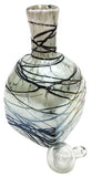Glass Decanter – White with Metallic Swirl