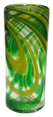 Collins/Hi-Ball Glass – Green Swirl