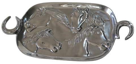 Serving Tray with Horse Shoe Handles