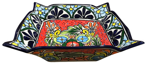 Talavera Square Pointed Fruit Bowl