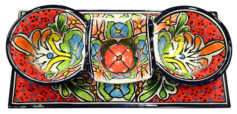 Talavera 4 Piece Salsa Serving Set