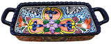 Talavera Rectangular Casserole/Loaf Pan with Handles