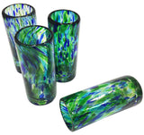 Shooter/Tequila Glasses – Green & Blue Spots