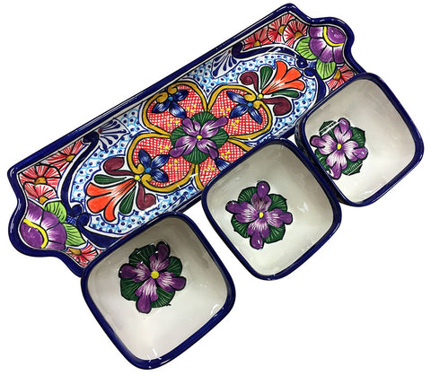 Talavera Appetizer Serving Set – Long – Mixed