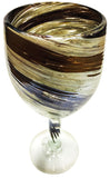 Wine Glass – Chocolate Cream Swirl