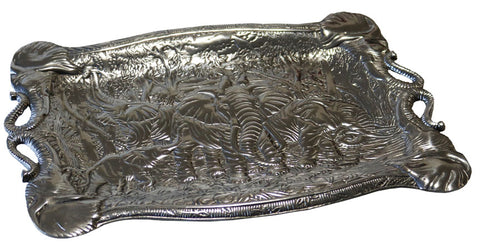 Elephant Motif Serving Tray