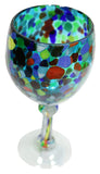 Wine Glass – Blue Spotted