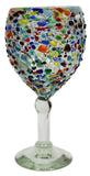Wine Glass – Multi Colour Pebbled