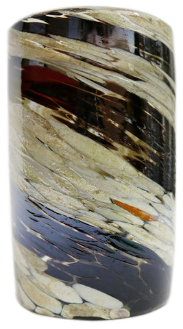 Water Glass – Chocolate Cream Swirl