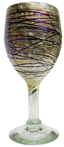 Wine Glass – Gold Metal Swirl