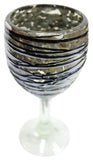 Wine Glass – Metallic Swirl