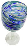 Wine Glass – Blue Swirl