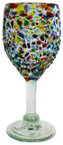 Wine Glass – Multi Colour Pebbled – Straight Stem