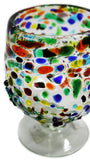 Cognac Glass – Multi Colour Pebbled