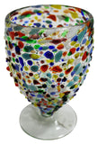 Stemless Wine Glass/Sangria Glass – Multi Colour Pebbled