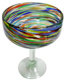 Margarita Glass – Multi Swirl