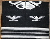 Traditional Blanket-Style Poncho with Fringe