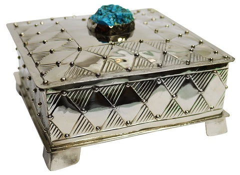 Alpaca Silver Jewellery Box – Large Square