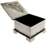 Alpaca Silver Jewellery Box – Small Square