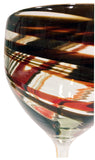 Wine Glass – Red & Chocolate Swirl