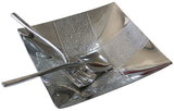 Square Mosaic Salad Bowl & Tongs Set