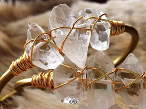 Clear Quartz Bangle - Bare Terre