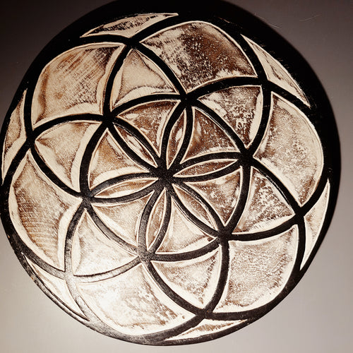 Wooden crystal grid - Bare Terre