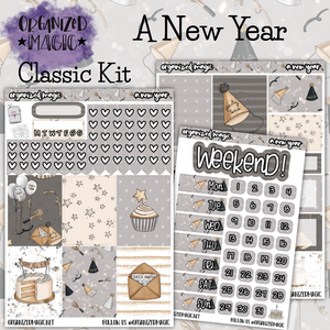 A New Year Classic weekly planner sticker kit