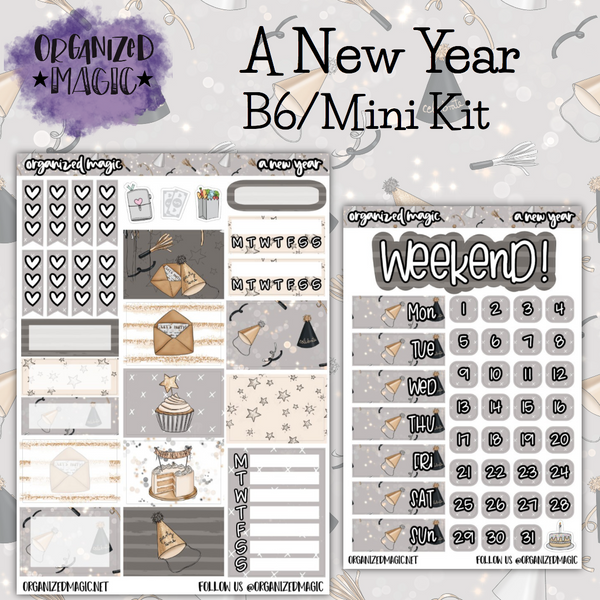 A New Year B6 Mini planner sticker kit