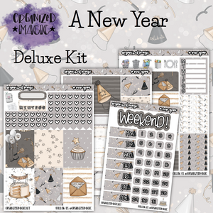 A New Year Deluxe planner sticker kit