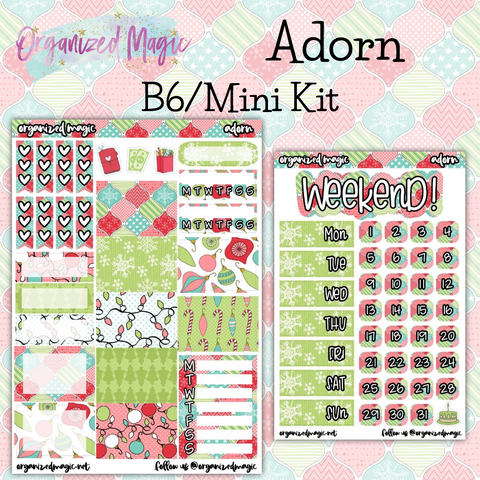 Adorn B6 Mini kit planner sticker kit