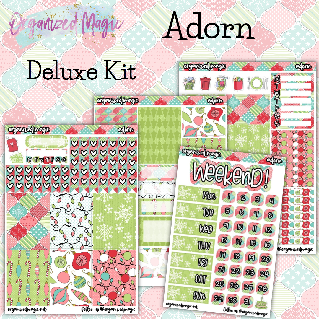 Adorn Deluxe weekly planner sticker kit