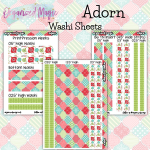 Adorn washi sheet planner stickers