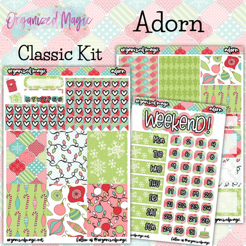 Adorn Classic weekly planner sticker kit