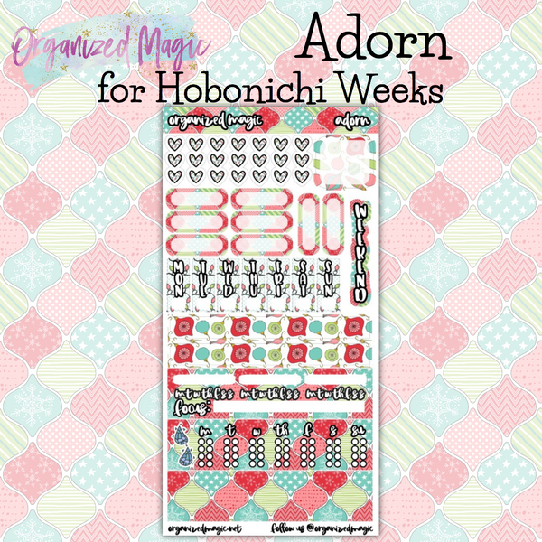 Adorn Hobonichi weeks planner sticker kit