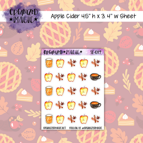 Apple Cider planner stickers